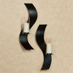 Rhythmic Wall Sconces Black Set of Two
