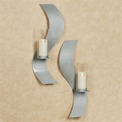 Rhythmic Wall Sconces Silver Set of Two