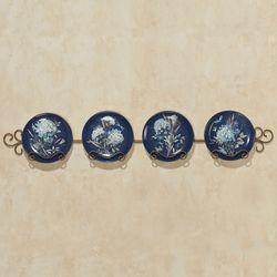Bohemian Blue Dessert Plates Set of Four