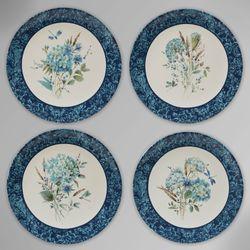 Bohemian Blue Dinner Plates Set of Four