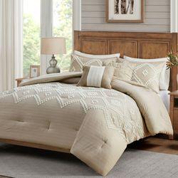 Teague Comforter Bed Set Beige