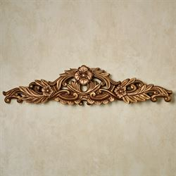 Valeria Decorative Wall Topper Aged Gold