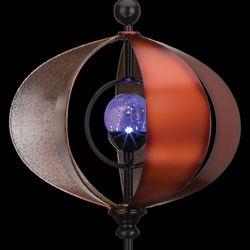 Orb Solar Wind Spinner Antique Copper