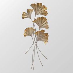 Ginkgo Leaves Wall Art Multi Metallic