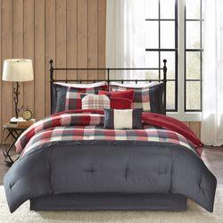 Ridge II Comforter Bed Set Red