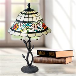 Caroline Stained Glass Table Lamp Multi Bright