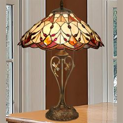 Tobias Dragonfly Stained Glass Table Lamp Multi Jewel