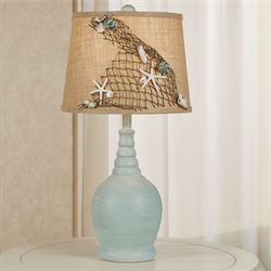 Across the Wave Table Lamp Blue