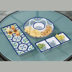 Mosaics Hostess Serving Trays Multi Cool Set of Three
