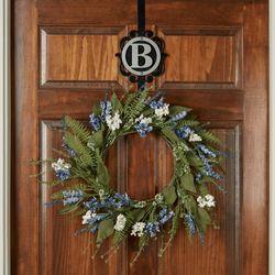 Abigail Floral Wreath Blue