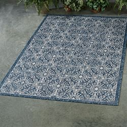 Antique Tile Rectangle Rug