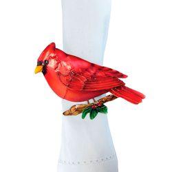 Cardinal Napkin Rings Red Set of Four