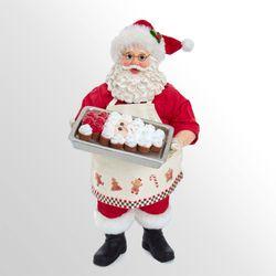 Cupcake Fabriche Santa Figurine Red
