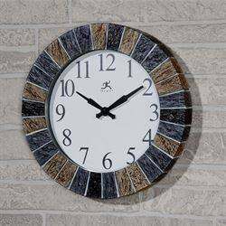 Stonewall Indoor Outdoor Wall Clock Gray