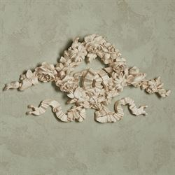 Floral Wreath Wall Topper Old World White
