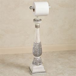 Aurelyia Toilet Paper Stand Ivory/Silver