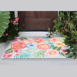 Flower Garden Rectangle Mat Multi Bright 49 x 29