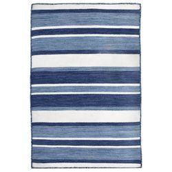 Boat Stripe Rectangle Rug Navy