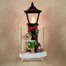 Mouse by Lamp Post Nightlight Multi Warm