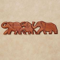 Elephant Train Wall Topper Brown
