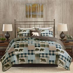 Twin Falls Patchwork Quilt Bed Set Multi Warm