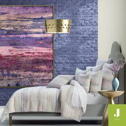 Luna Stripe Mini Comforter Set Lavender