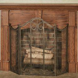 Lara Fireplace Screen Black