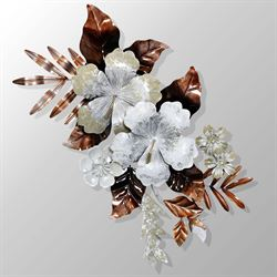 Cherished Blossoms Wall Sculpture Multi Earth