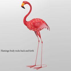 Large Flamingo Rocker Sculpture Pink