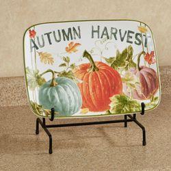 Sweet Autumn Harvest Rectangle Serving Platter Multi Earth