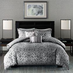 Carlow Comforter Bed Set Dark Gray