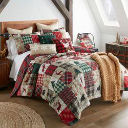 Christmas Lodge Mini Quilt Set Red