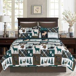 Fletcher Forest Mini Quilt Set Multi Warm