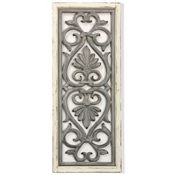 Anisah Scroll Wall Art Panel Gray