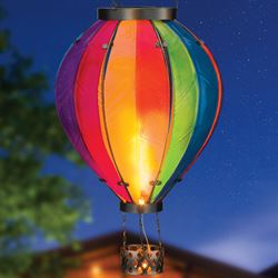Rainbow Hot Air Balloon Solar Lantern Multi Bright