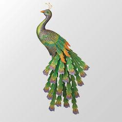 Royal Peacock Wall Art Multi Jewel