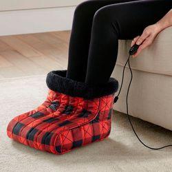 Buffalo Check Foot Warmer Red