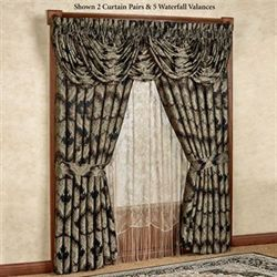 Fenmore Waterfall Valance Black 43 x 33