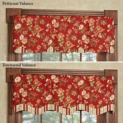 Farrell Dark Red Petticoat Valance 52 x 15