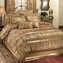 Splendor Comforter Set Gold