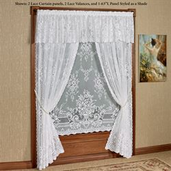 Cranbrook Lace Curtain Panel White