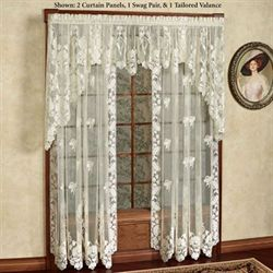 Windsor Floral Lace Curtain Panel