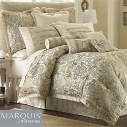 Fairfield Scroll Comforter Set Platinum