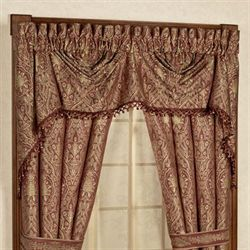 Faberge Austrian Valance Rosewood 110 x 28