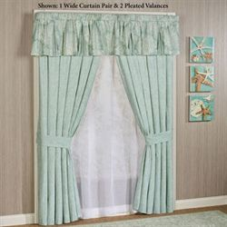 Antigua Pleated Valance Aqua Mist 52 x 17