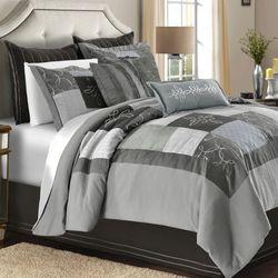 Rochelle Comforter Set Gray