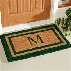 Double Border Outdoor Mat Green