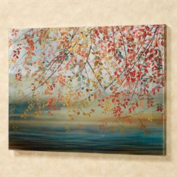 Leaves of Color Canvas Wall Art Multi Cool