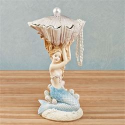 Pearl Beach Mermaid Figurine Multi Pastel