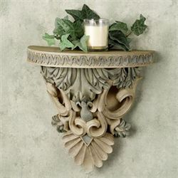 Acanthus Leaf Wall Shelf Eggshell